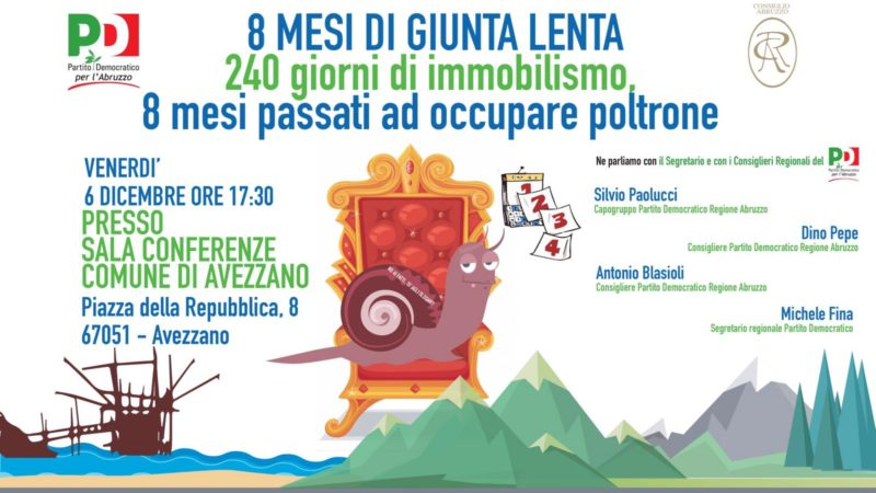 Video integrale dell'evento 8 MESI DI GIUNTA LENTA