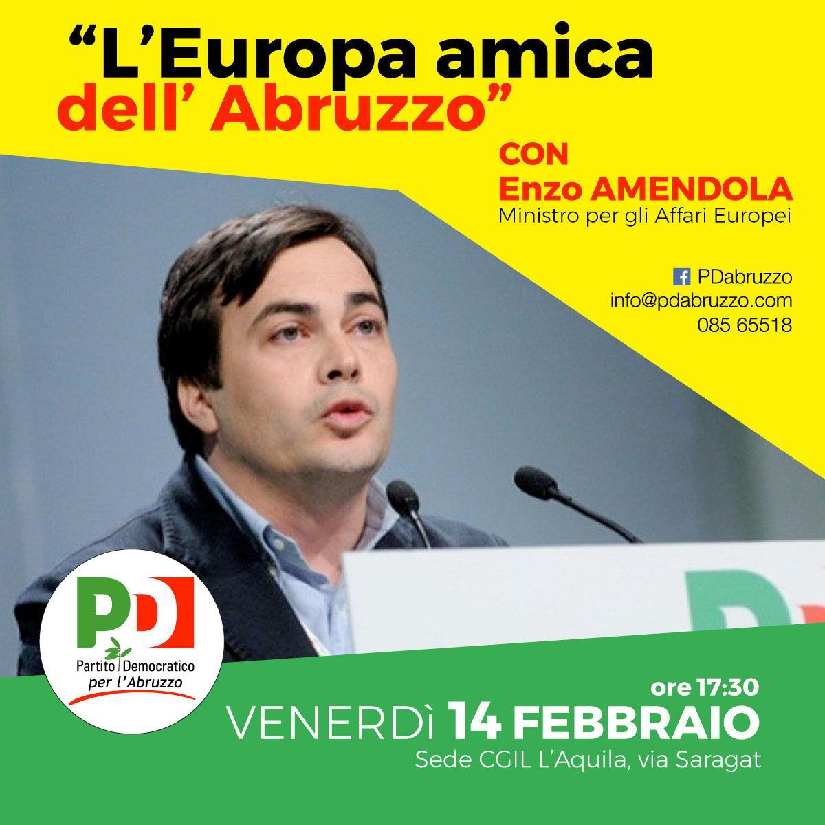 Oggi 14 febbraio incontro con il Ministro degli Affari Europei Enzo Amendola. Ore 17,30 Sala CGIL