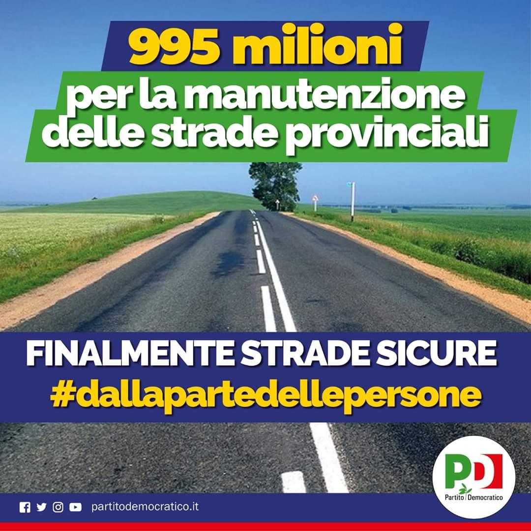 995 milioni per la manutenzione delle strade provinciali